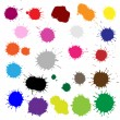 Color Blobs Stains Set - Stock Vector
