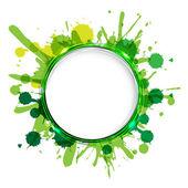 Globos de diálogo con manchas verdes — Vector de stock