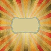 Sunburst em forma de quadrado — Vetor de Stock