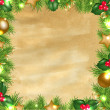 Vintage Paper Background With Christmas Border — Image vectorielle