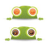 Hypno Frog Set — Stock Vector