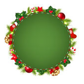 Green Speech Bubble With Christmas Icon — Stock Vector