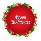 červená bublinu s vánoční ikony — Stock vektor