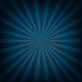 Retro Vintage Square Blue Sunburst — Stock Vector