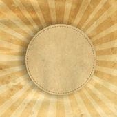 Retrò marrone vintage sunburst quadrati — Vettoriale Stock