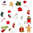 Big Set Xmas Icons — Stock Vector
