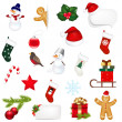 Big Set Xmas Icons — Stock Vector #16923109