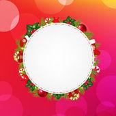 粉红色散景背景的空白礼品标签 — 图库矢量图片