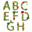 Stock Vector: Christmas Alphabet
