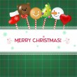Christmas Card With Candies — 图库矢量图片