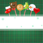 Christmas Card With Candies — Stock Vector