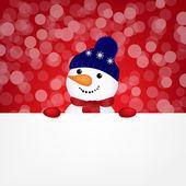 Snowman With Bokeh — Stock Vector