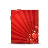 Rot valentinstag-banner — Stockvektor