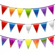 Rainbow Bunting Banner Garland — Stock Vector