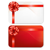 Gift Card With Red Bow — Stock Vector