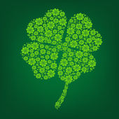Groene klaver symbool — Stockvector
