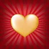 Золотое сердце с Санберст — Cтоковый вектор