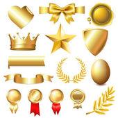 Big Golden Collection — Stock Vector
