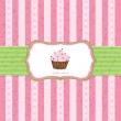 Pastel Vintage Cupcake Background — Stock Vector