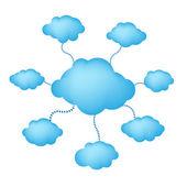 Chmury niebieski web — Wektor stockowy