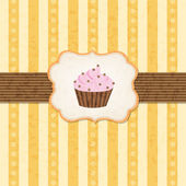 Vintage Cupcake Background — Stock Vector