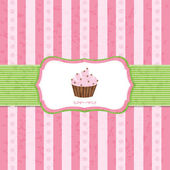 Pastel Vintage Cupcake Background — Stock Vector