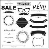 Set Of Vintage Black Badges — Stock Vector