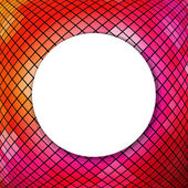 Mosaic Background With Sphere — Vecteur
