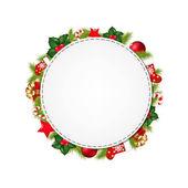 Speech Bubble With Christmas Symbol — Stock Vector