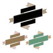 复古丝带横幅 — 图库矢量图片