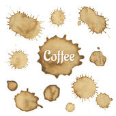 Coffee Stain Collection — Stock Vector