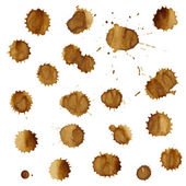 Coffee Stain Set — Stock Vector