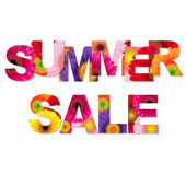 Colorful Summer Sale Poster — Stock Vector