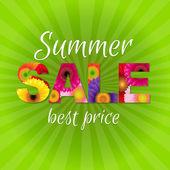 Green Gerbers Sale Poster — Stock Vector