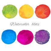 Watercolor Blots — Stock Vector
