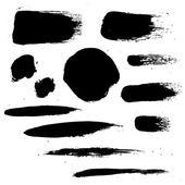 Black Blots — Stock Vector