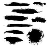 Black Blobs Set — Stock Vector