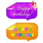 Sticker Happy Birthday — Stock Vector #6470732