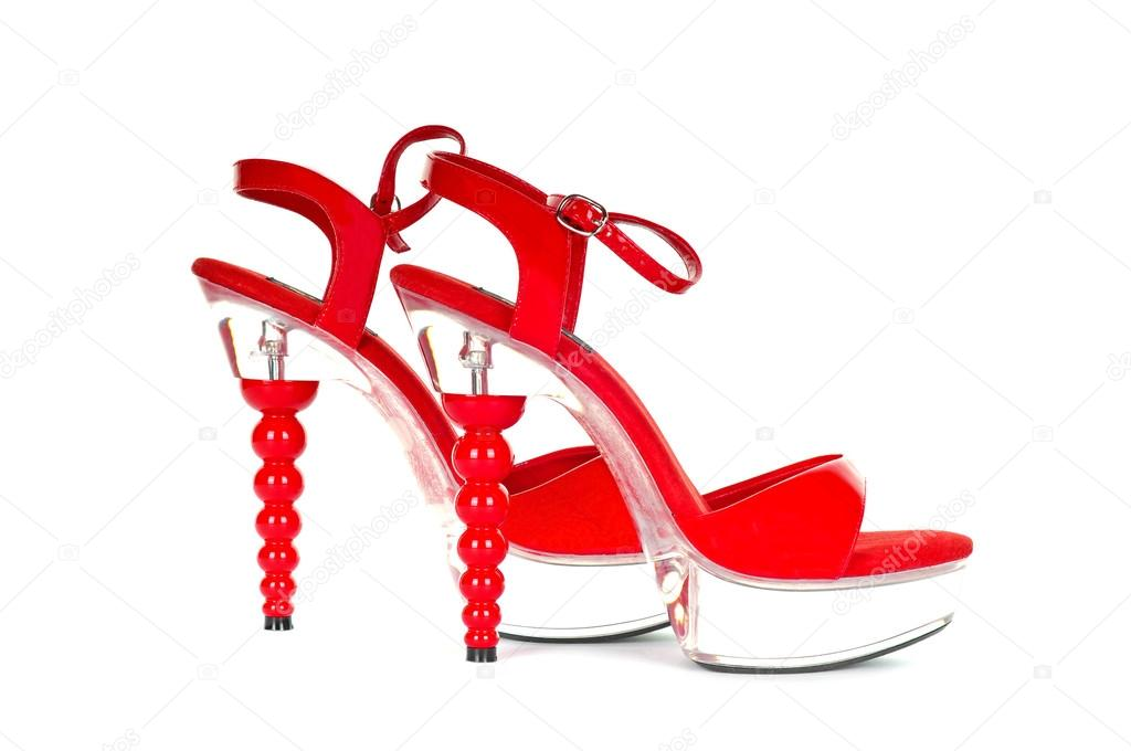 Sexy Red High Heel Platform Shoes — Stock Photo #12390338