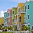 Stock Photo: Colorful Beach Condominiums