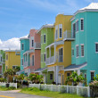 Colorful Beach Condominiums - Stok fotoğraf