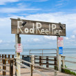Rod and Reel Pier — Stock Photo