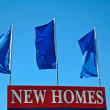 New Homes Sign — Stock Photo