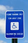 Postižení parkovací značka — Stock fotografie
