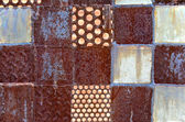Rusted Metal Squares — Stock Photo