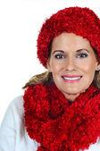 Mature Woman in Winter Fashion — Stock Photo