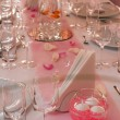 Fancy table set for a wedding dinner — Stock Photo #12142522