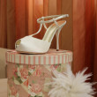 Wedding shoes — Stock Photo