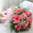 Stock Photo: Wedding bouquet of roses