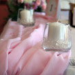 Fancy table set for a wedding dinner — Stock Photo #26032843